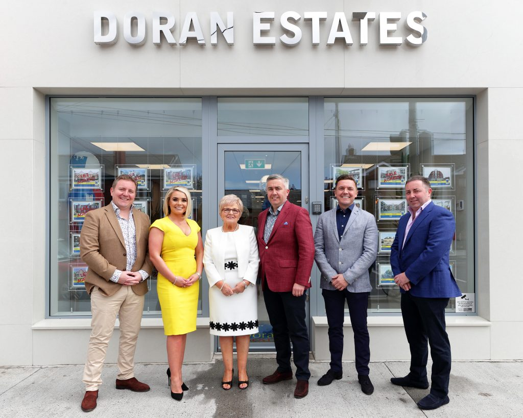 The Doran family outside the office of Doran Estates, 308 Kimmage Road Lower, Dublin 6W
